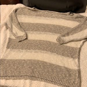 Two tone honeycomb sweater